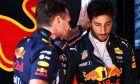 Christian Horner (GBR) Red Bull Racing Team Principal with Daniel Ricciardo (AUS) Red Bull Racing