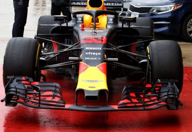 Red Bull Racing RB14 front wing. 18.10.2018.