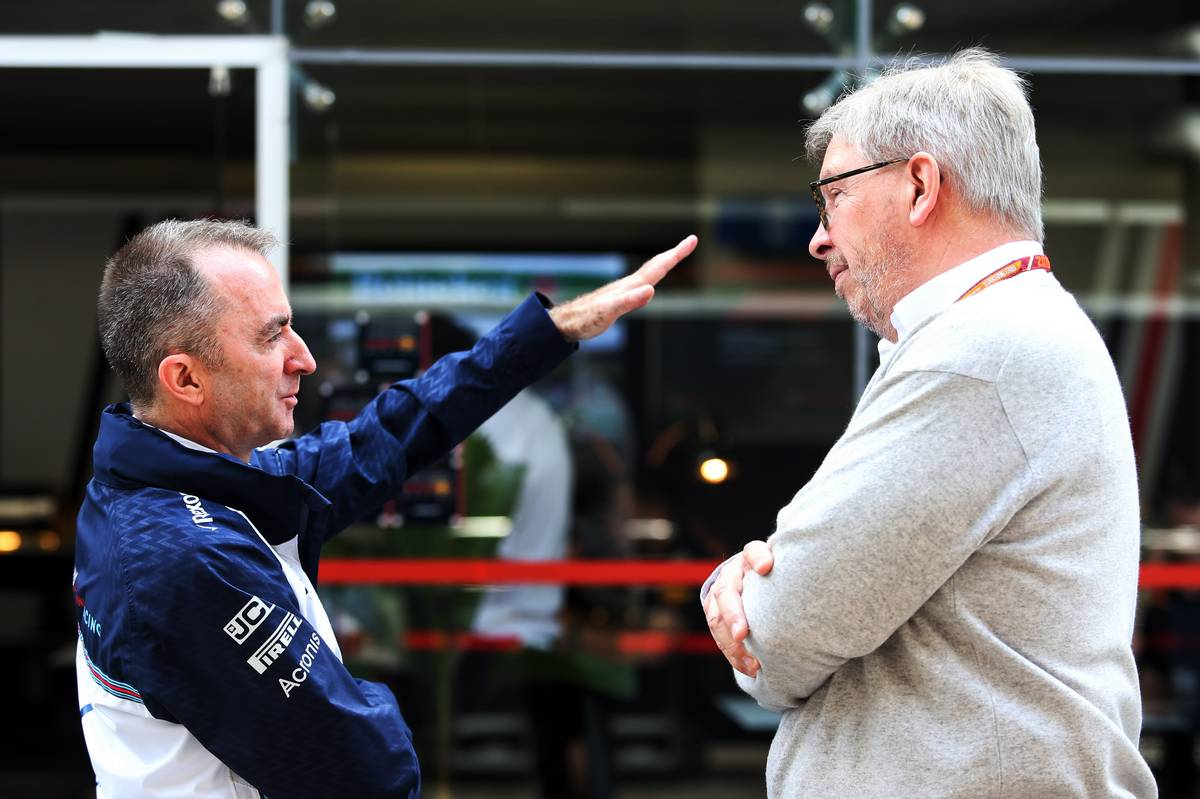 Paddy Lowe (GBR) Williams Chief Technical Officer with Ross Brawn (GBR) Managing Director, Motor Sports.