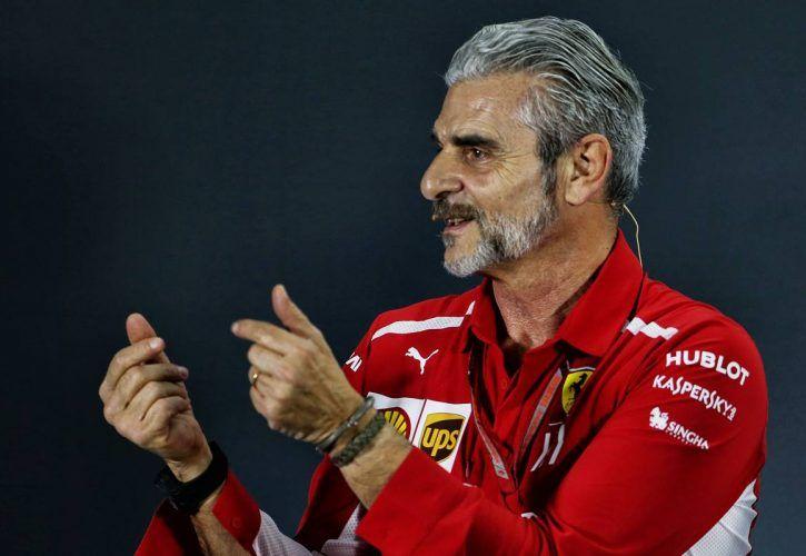 Maurizio Arrivabene (ITA) Ferrari Team Principal in the FIA Press Conference. 23.11.2018
