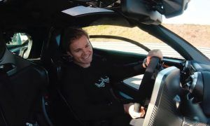 Rosberg on a joyride with McLaren Senna, but the cops were lurking!