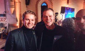 Nico Rosberg mingles with Jason Bourne!