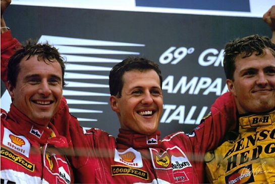 In 1997, F1 enjoyed a double-dose of Schumacher talent on the grid when Michael's young brother Ralf joined the fray. A year later, at the Italian GP at Monza, the brothers achieved a historic first, becoming the first siblings in the history of F1 to share a podium.  ©CahierArchive