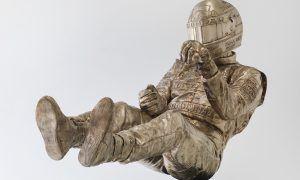 Ayrton Senna set in bronze by artist Paul Oz!