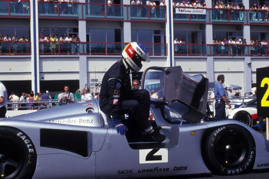Parallel to his F1 debut in 1991, Schumacher drove for Sauber-Mercedes in Group C.