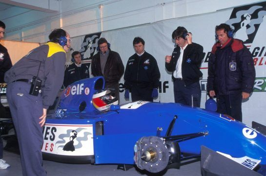 In 1994, Flavio Briatore had acquired an interest in the Ligier F1 team, an involvement that led to Schumacher testing a JS39B-Renault at Estoril at the end of the season.