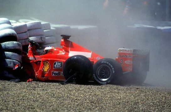Schumacher was fortunately spared any serious injuries during his amazing career, but his accident at Silverstone in 1999 left him with a broken leg and out of contention for a championship won by his great rival Mika Hakkinen.