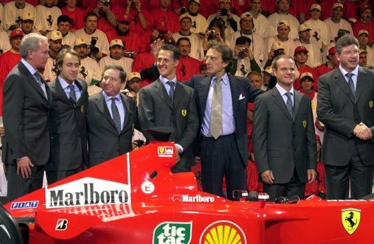 It took the better part of four years for Ferrari's dream team to gel under the guidance of Jean Todt and a support crew that included master strategist Ross Brawn and designer Rory Byrne, with Schumacher representing the final link. But once the Scuderia was on its rails, it was the start of an amazing period of dominance.