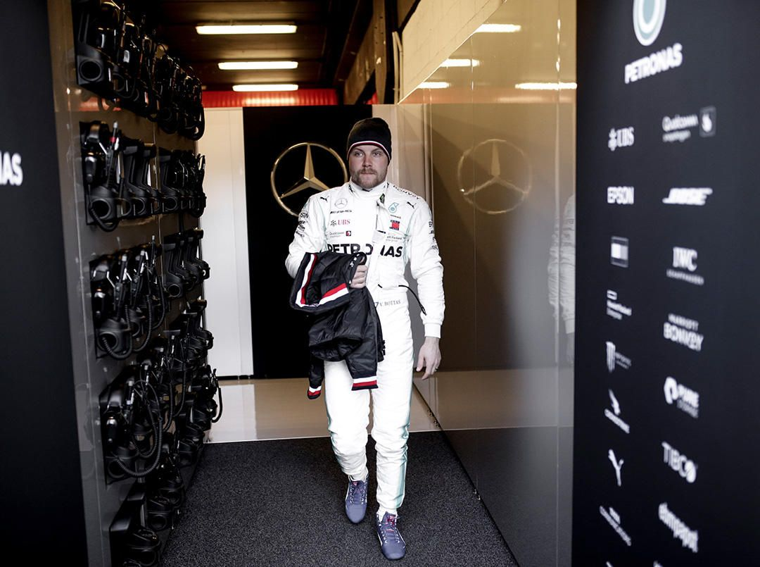 Mercedes at work in the first day of official pre-season testing - February 18 2019.