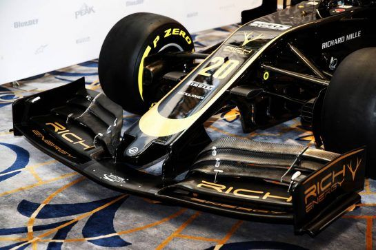 New livery on the Haas VF-18 with Rich Energy title sponsorship.