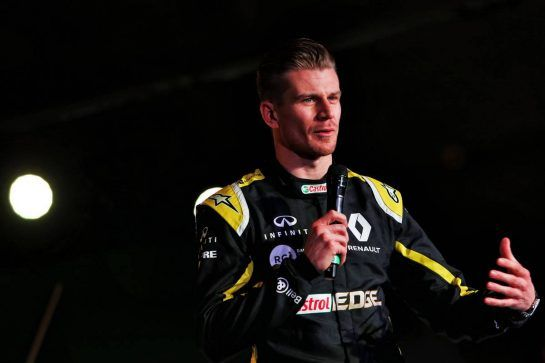 Nico Hulkenberg (GER) Renault Sport F1 Team. 12.02.2019. Renault Sport F1 Team RS19 Launch, Enstone England. Tuesday. - www.xpbimages.com, EMail: requests@xpbimages.com - copy of publication required for printed pictures. Every used picture is fee-liable. © Copyright: Moy / XPB Images
