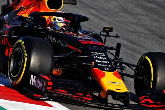 Max Verstappen (NLD) Red Bull Racing RB14. 27.02.2019. Formula One Testing, Day Two, Barcelona, Spain. Wednesday. - www.xpbimages.com, EMail: requests@xpbimages.com - copy of publication required for printed pictures. Every used picture is fee-liable. © Copyright: Moy / XPB Images