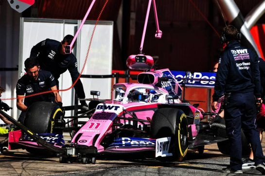 Sergio Perez (MEX) Racing Point F1 Team RP19. 27.02.2019. Formula One Testing, Day Two, Barcelona, Spain. Wednesday. - www.xpbimages.com, EMail: requests@xpbimages.com - copy of publication required for printed pictures. Every used picture is fee-liable. © Copyright: Moy / XPB Images