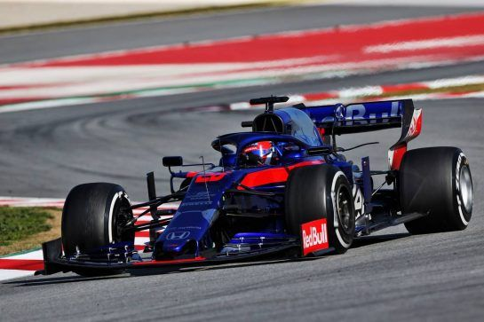 Daniil Kvyat (RUS) Scuderia Toro Rosso STR14. 27.02.2019. Formula One Testing, Day Two, Barcelona, Spain. Wednesday. - www.xpbimages.com, EMail: requests@xpbimages.com - copy of publication required for printed pictures. Every used picture is fee-liable. © Copyright: Moy / XPB Images