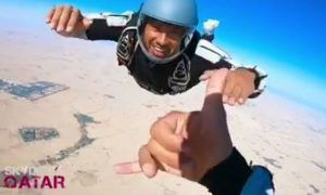 Here is thrill-seeker Lewis Hamilton's new favourite leap of faith