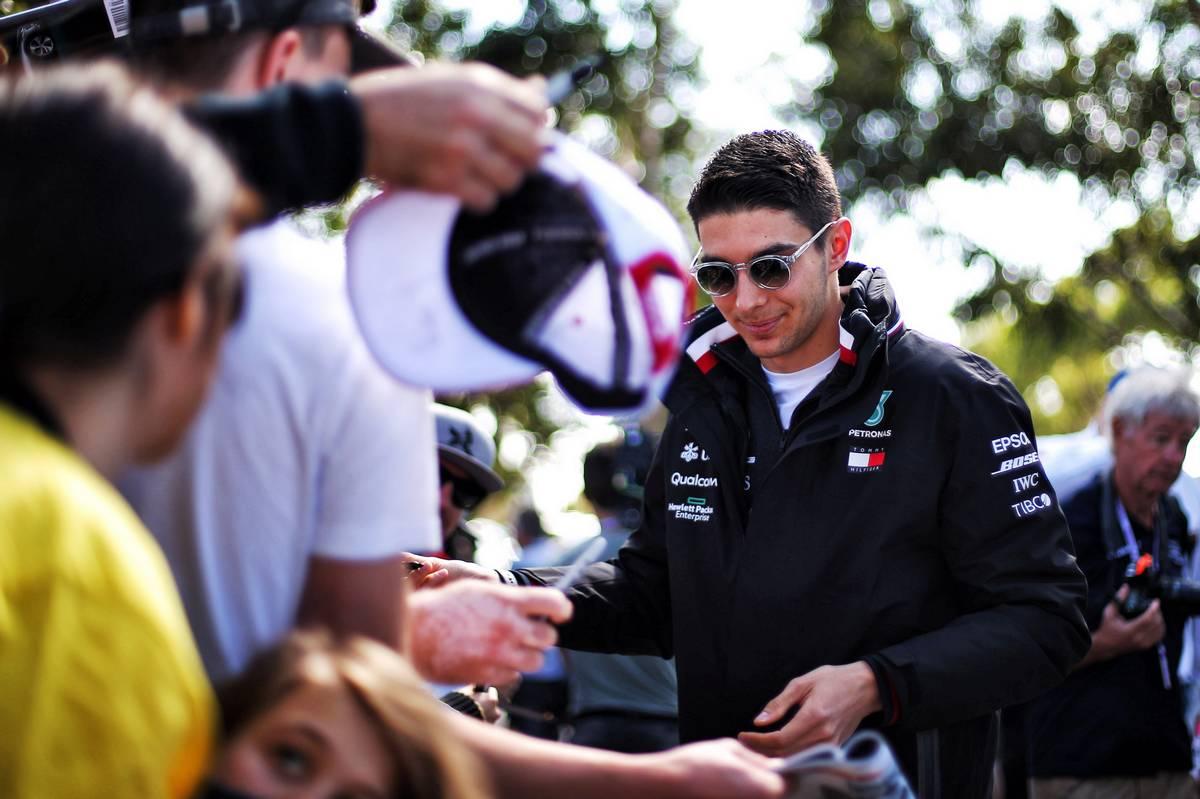 Esteban Ocon has some fun at Goodwood in Mercedes F1 auto!