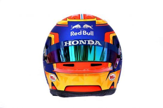 The helmet of Alexander Albon (THA) Scuderia Toro Rosso. 14.03.2019. Formula 1 World Championship, Rd 1, Australian Grand Prix, Albert Park, Melbourne, Australia, Preparation Day. - www.xpbimages.com, EMail: requests@xpbimages.com - copy of publication required for printed pictures. Every used picture is fee-liable. © Copyright: Batchelor / XPB Images