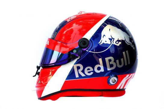 The helmet of Daniil Kvyat (RUS) Scuderia Toro Rosso. 14.03.2019. Formula 1 World Championship, Rd 1, Australian Grand Prix, Albert Park, Melbourne, Australia, Preparation Day. - www.xpbimages.com, EMail: requests@xpbimages.com - copy of publication required for printed pictures. Every used picture is fee-liable. © Copyright: Batchelor / XPB Images