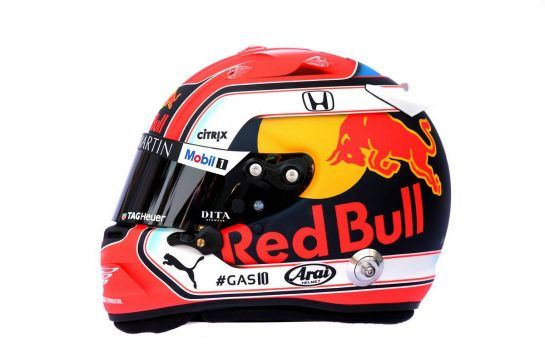 The helmet of Pierre Gasly (FRA) Red Bull Racing. 14.03.2019. Formula 1 World Championship, Rd 1, Australian Grand Prix, Albert Park, Melbourne, Australia, Preparation Day. - www.xpbimages.com, EMail: requests@xpbimages.com - copy of publication required for printed pictures. Every used picture is fee-liable. © Copyright: Batchelor / XPB Images