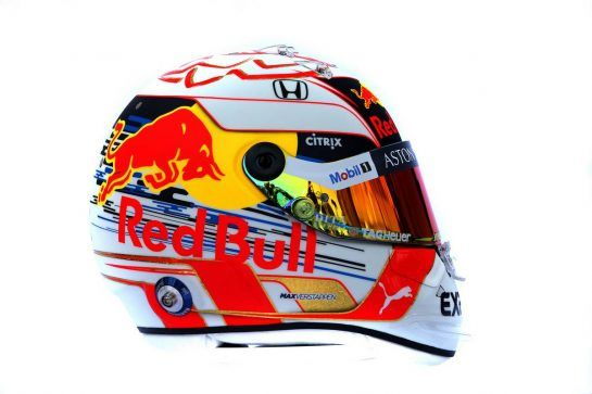 The helmet of Max Verstappen (NLD) Red Bull Racing. 14.03.2019. Formula 1 World Championship, Rd 1, Australian Grand Prix, Albert Park, Melbourne, Australia, Preparation Day. - www.xpbimages.com, EMail: requests@xpbimages.com - copy of publication required for printed pictures. Every used picture is fee-liable. © Copyright: Batchelor / XPB Images