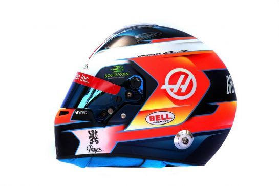 The helmet of Romain Grosjean (FRA) Haas F1 Team. 14.03.2019. Formula 1 World Championship, Rd 1, Australian Grand Prix, Albert Park, Melbourne, Australia, Preparation Day. - www.xpbimages.com, EMail: requests@xpbimages.com - copy of publication required for printed pictures. Every used picture is fee-liable. © Copyright: Batchelor / XPB Images