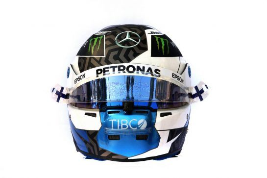 The helmet of Valtteri Bottas (FIN) Mercedes AMG F1. 14.03.2019. Formula 1 World Championship, Rd 1, Australian Grand Prix, Albert Park, Melbourne, Australia, Preparation Day. - www.xpbimages.com, EMail: requests@xpbimages.com - copy of publication required for printed pictures. Every used picture is fee-liable. © Copyright: Batchelor / XPB Images