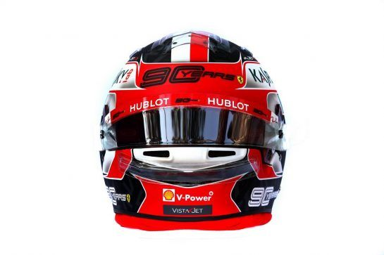 The helmet of Charles Leclerc (MON) Ferrari. 14.03.2019. Formula 1 World Championship, Rd 1, Australian Grand Prix, Albert Park, Melbourne, Australia, Preparation Day. - www.xpbimages.com, EMail: requests@xpbimages.com - copy of publication required for printed pictures. Every used picture is fee-liable. © Copyright: Batchelor / XPB Images