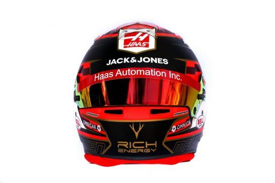 The helmet of Kevin Magnussen (DEN) Haas F1 Team. 14.03.2019. Formula 1 World Championship, Rd 1, Australian Grand Prix, Albert Park, Melbourne, Australia, Preparation Day. - www.xpbimages.com, EMail: requests@xpbimages.com - copy of publication required for printed pictures. Every used picture is fee-liable. © Copyright: Batchelor / XPB Images