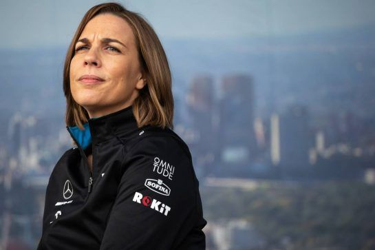 Claire Williams (GBR) Williams Racing Deputy Team Principal at the Fans' Forum.
