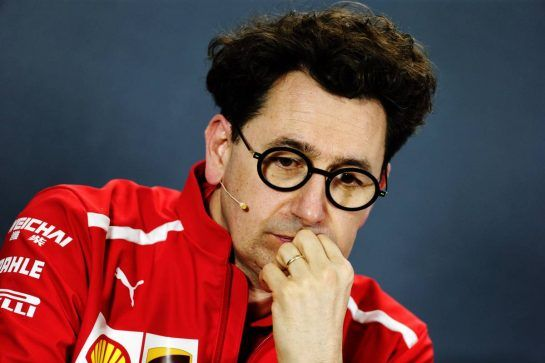 Mattia Binotto (ITA) Ferrari Team Principal in the FIA Press Conference.