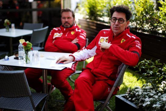 Mattia Binotto (ITA) Ferrari Team Principal and Gino Rosato (CDN) Ferrari. 16.03.2019. Formula 1 World Championship, Rd 1, Australian Grand Prix, Albert Park, Melbourne, Australia, Qualifying Day. - www.xpbimages.com, EMail: requests@xpbimages.com - copy of publication required for printed pictures. Every used picture is fee-liable. © Copyright: Photo4 / XPB Images