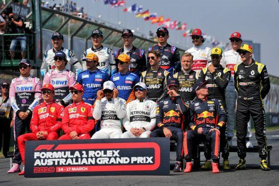 Drivers' beginning of season group photograph.