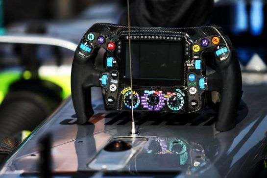 Mercedes AMG F1 W10 steering wheel.