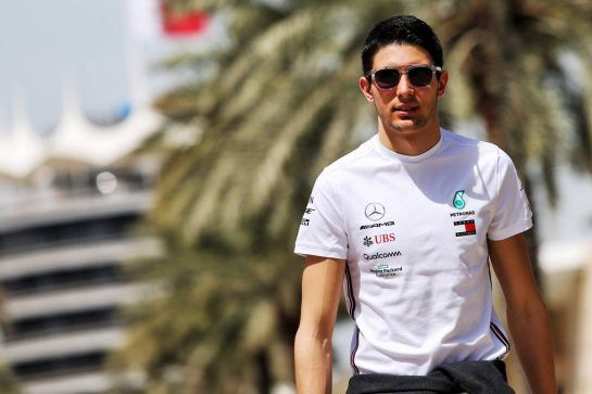 Esteban Ocon (FRA) Mercedes AMG F1 Reserve Driver. 28.03.2019. Formula 1 World Championship, Rd 2, Bahrain Grand Prix, Sakhir, Bahrain, Preparation Day. - www.xpbimages.com, EMail: requests@xpbimages.com - copy of publication required for printed pictures. Every used picture is fee-liable. © Copyright: Moy / XPB Images