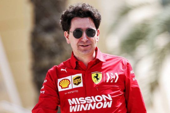 Mattia Binotto (ITA) Ferrari Team Principal. 28.03.2019. Formula 1 World Championship, Rd 2, Bahrain Grand Prix, Sakhir, Bahrain, Preparation Day.  - www.xpbimages.com, EMail: requests@xpbimages.com - copy of publication required for printed pictures. Every used picture is fee-liable. © Copyright: Bearne / XPB Images