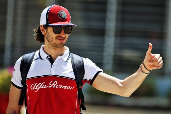 Antonio Giovinazzi (ITA) Alfa Romeo Racing. 29.03.2019. Formula 1 World Championship, Rd 2, Bahrain Grand Prix, Sakhir, Bahrain, Practice Day - www.xpbimages.com, EMail: requests@xpbimages.com - copy of publication required for printed pictures. Every used picture is fee-liable. © Copyright: Batchelor / XPB Images