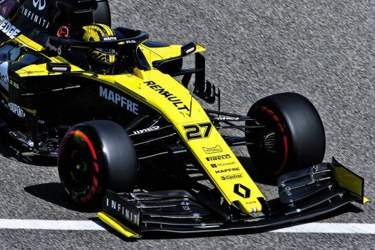 Nico Hulkenberg (GER) Renault F1 Team RS19. 29.03.2019. Formula 1 World Championship, Rd 2, Bahrain Grand Prix, Sakhir, Bahrain, Practice Day  - www.xpbimages.com, EMail: requests@xpbimages.com - copy of publication required for printed pictures. Every used picture is fee-liable. © Copyright: Bearne / XPB Images