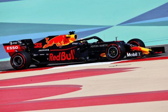 Max Verstappen (NLD) Red Bull Racing RB15. 29.03.2019. Formula 1 World Championship, Rd 2, Bahrain Grand Prix, Sakhir, Bahrain, Practice Day - www.xpbimages.com, EMail: requests@xpbimages.com - copy of publication required for printed pictures. Every used picture is fee-liable. © Copyright: Moy / XPB Images