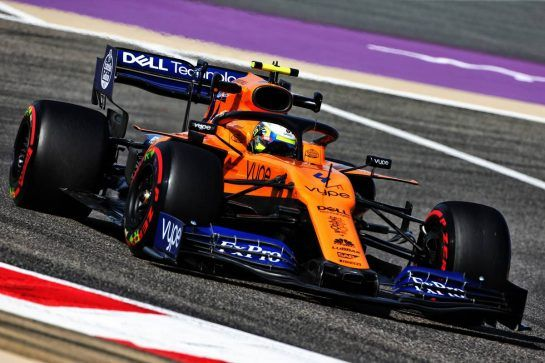 Lando Norris (GBR) McLaren MCL34. 29.03.2019. Formula 1 World Championship, Rd 2, Bahrain Grand Prix, Sakhir, Bahrain, Practice Day - www.xpbimages.com, EMail: requests@xpbimages.com - copy of publication required for printed pictures. Every used picture is fee-liable. © Copyright: Moy / XPB Images