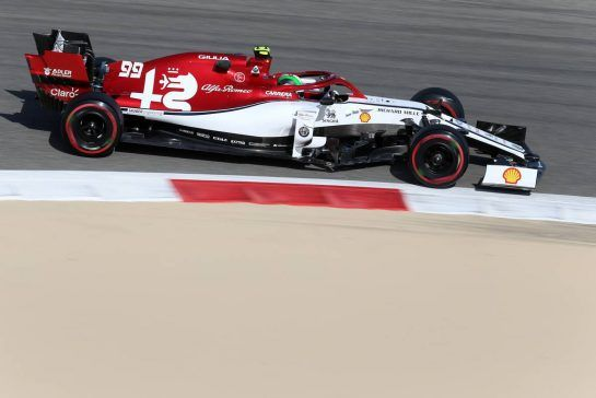 Antonio Giovinazzi (ITA), Alfa Romeo Racing 29.03.2019. Formula 1 World Championship, Rd 2, Bahrain Grand Prix, Sakhir, Bahrain, Practice Day- www.xpbimages.com, EMail: requests@xpbimages.com - copy of publication required for printed pictures. Every used picture is fee-liable. © Copyright: Charniaux / XPB Images