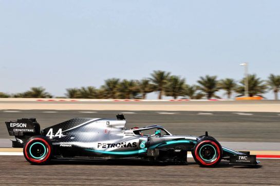 Lewis Hamilton (GBR) Mercedes AMG F1 W10.