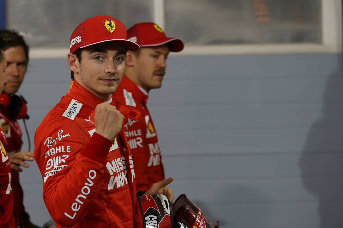 Charles Leclerc (MON) Ferrari SF90 takes his 1st pole position.
