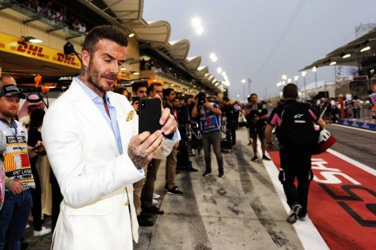 David Beckham (GBR) Former Football Player. 31.03.2019. Formula 1 World Championship, Rd 2, Bahrain Grand Prix, Sakhir, Bahrain, Race Day.  - www.xpbimages.com, EMail: requests@xpbimages.com - copy of publication required for printed pictures. Every used picture is fee-liable. © Copyright: Bearne / XPB Images