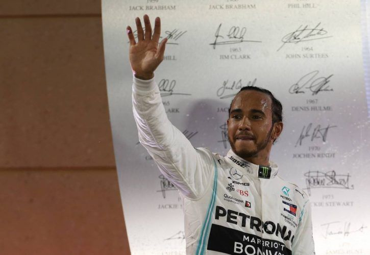 1st place for Lewis Hamilton (GBR) Mercedes AMG F1 W10.