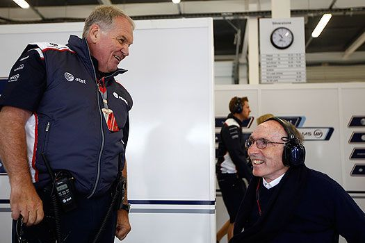Patrick Head with Frank Williams of Williams F1 Team