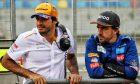 Fernando Alonso (ESP) McLaren Test Driver with Carlos Sainz Jr (ESP) McLaren.
