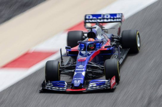 Alexander Albon (THA) Scuderia Toro Rosso STR14. 03.04.2019. Formula One Testing, Sakhir, Bahrain, Wednesday.  - www.xpbimages.com, EMail: requests@xpbimages.com - copy of publication required for printed pictures. Every used picture is fee-liable. © Copyright: Bearne / XPB Images