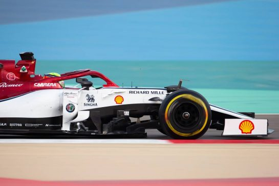 Mick Schumacher (GER) Alfa Romeo Racing C38 Test Driver. 03.04.2019. Formula One Testing, Sakhir, Bahrain, Wednesday.  - www.xpbimages.com, EMail: requests@xpbimages.com - copy of publication required for printed pictures. Every used picture is fee-liable. © Copyright: Bearne / XPB Images