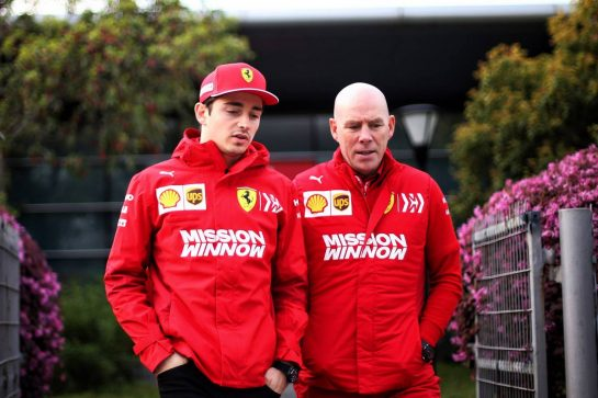(L to R): Charles Leclerc (MON) Ferrari with Jock Clear (GBR) Ferrari Engineering Director. 11.04.2019. Formula 1 World Championship, Rd 3, Chinese Grand Prix, Shanghai, China, Preparation Day. - www.xpbimages.com, EMail: requests@xpbimages.com - copy of publication required for printed pictures. Every used picture is fee-liable. © Copyright: Photo4 / XPB Images