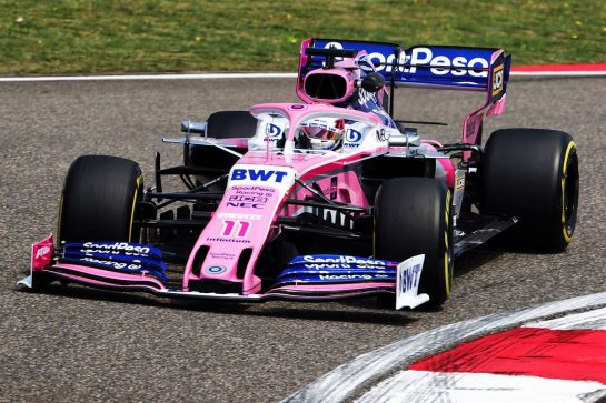 Sergio Perez (MEX) Racing Point F1 Team RP19. 12.04.2019. Formula 1 World Championship, Rd 3, Chinese Grand Prix, Shanghai, China, Practice Day.  - www.xpbimages.com, EMail: requests@xpbimages.com - copy of publication required for printed pictures. Every used picture is fee-liable. © Copyright: Bearne / XPB Images